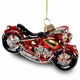 Sikora Christmas Tree Decoration Glass Ornament Harley Davidson Motorcycle 12 cm Length