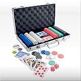 51r8dknzc4L. SL160  Pokerkoffer POKER CASE 37 mit 300 Spielchips   Der Pokersatz im stabilen Metallkoffer!