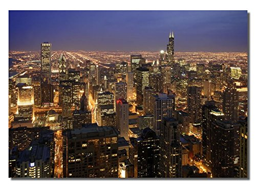 Picture Sensations Framed canvas Art Print, Chicago City Skyline - 40