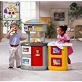 [HSB Value+ Bundle] Little Tikes Double Up Kitchen & Laundry Centre 171574 with MF® Chenille® Cleaning Glove