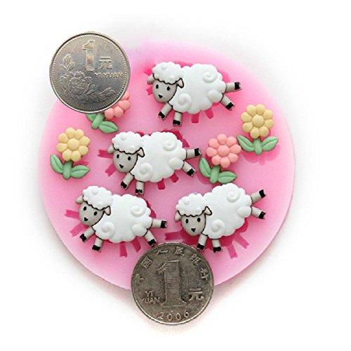 Bluelover Petit mouton Bricolage Silicone Fondant au Chocolat Gâteau Décorant le Moule