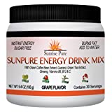 Energy Drink Mix + Natural Fat Burner - SunPure | THE HEALTHY ALTERNATIVE | Bulk Powder - 30 Servings |Grape Flavor | 100% MONEY BACK GUARANTEE | Rave Reviews | By Sunrise Pure Nutrition.