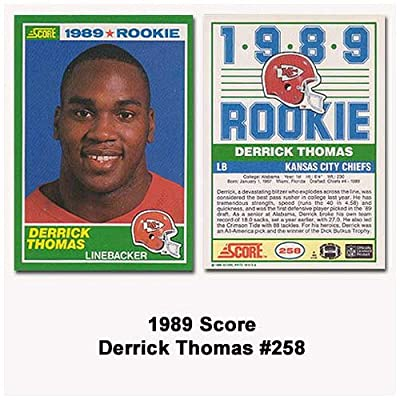 Score Kansas City Chiefs Derrick Thomas 1989 Rookie Card