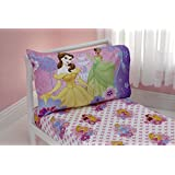 Disney Princesses Princess at Heart 2 Piece Toddler Sheet Set, Princess at Heart (Discontinued by Manufacturer)