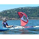 "New Windpaddle 47"" Adventure Downwind Kayak Sail - Red"