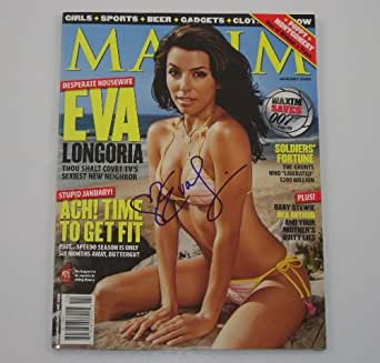 Eva Longoria Desperate Housewives Sexy Bikini Signed Autographed Maxim