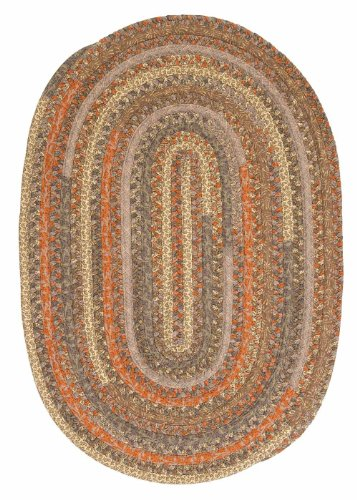 Colorful Braided Fabric Cotton Round Rug 6ft. x 6ft. Rust & Brown Color