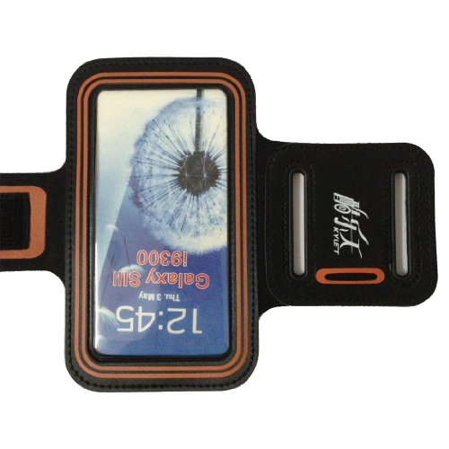 Black-Light Red Gym Running Sport Armband Case Compatible With Samsung Galaxy S3 Siii I9300