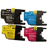 LC1240 / LC1220 - 1 set of 4 Multipack Compatible Ink Cartridges for Brother DCP J925DW - ALSO COMPATIBLE WITH Brother DCP J525W, DCP J725DW, Brother MFC J430W, MFC J5910DW, MFC J625DW, MFC J6510DW, MFC J6710, MFC J6710DW, MFC J6910DW, MFC J825DW Printer
