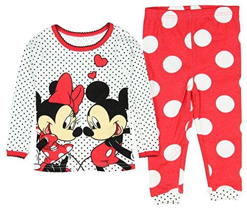 Disney Baby Girls' Mickey and Minnie Mouse 2 Piece Cotton Pajama Sleepwear Set (18 Months)