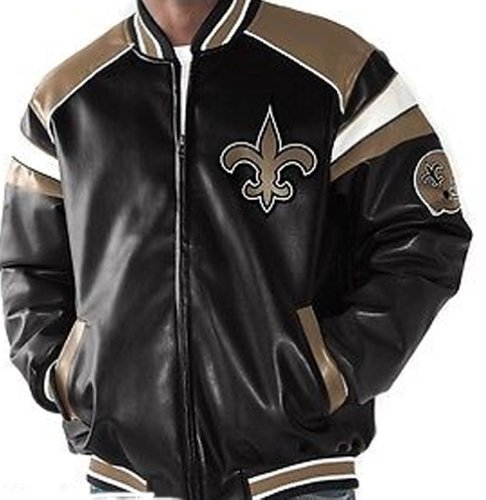 NFL New Orlean SAINTS Team Leather-Like Jacket ~ LARGE at Amazon.com