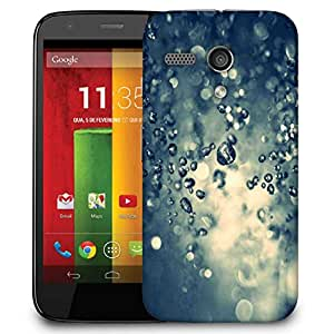 Snoogg Water Drops Designer Protective Phone Back Case Cover For Motorola G / Moto G