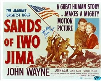 John Agar autographed 8x10 Photo (Sands of Iwo Jima) Image #3