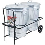 Behrens TCC 250-Pound Capacity Dual Trash Can Cart