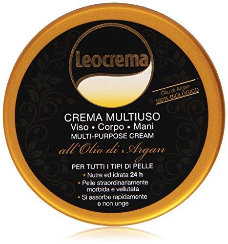 Leocrema - Crema Multiuso, Viso, Corpo, Mani all'Olio di Argan -  150 ml