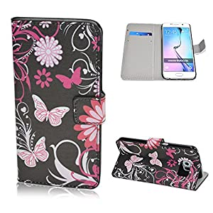 Samsung Galaxy S6 Case, Ludan Dream Catcher Series Painted Wallet Flip PU Leather Stand Case Cover with Card Slots Fit for 5.1 inches Samsung Galaxy S6 G9200 from Ludan