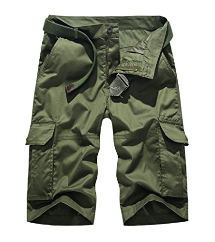 Lega Mens -  Pantaloncini  - Parka - Uomo Army Green/1064 X-Large