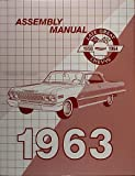 img - for 1963 Chevrolet Assembly Manual - Impala Biscayne Bel Air Chevy 63 (with Decal) book / textbook / text book