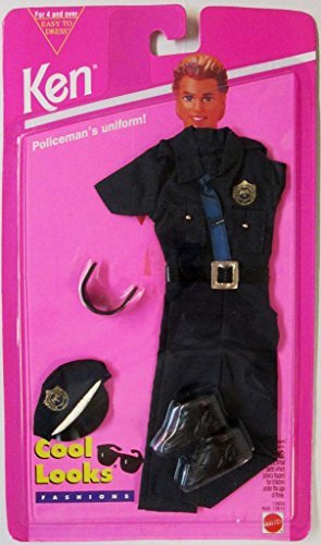[Ken Doll Policeman's Uniform Oufit 1994 Cool Looks] (Policeman Uniform)