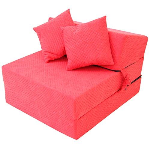 Hikenn-Schlafsessel-Klappmatratze-Faltmatratze-Gstebett-Bettsessel-Sofa-200x70x15-Rot