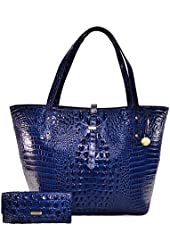 Brahmin All Day Tote Navy Melbourne K78151NV