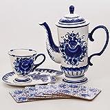 Gzhel Porcelain Coffee Set 'Anechka'