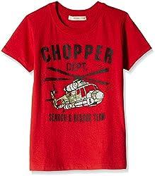 Fox Baby Boys' T-Shirt (Red_12-18 Months_327560)
