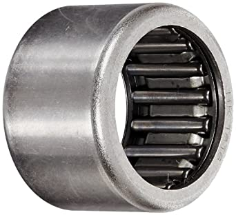 Koyo HK1816 Needle Roller Bearing, Caged Drawn Cup, Steel,  Metric 18 millimeters ID, 24 millimeters OD, 16 millimeters Width, 18000 rpm Max RPM, 3777 pounds Static Load Capacity, 2608 pounds Dynamic Load Capacity