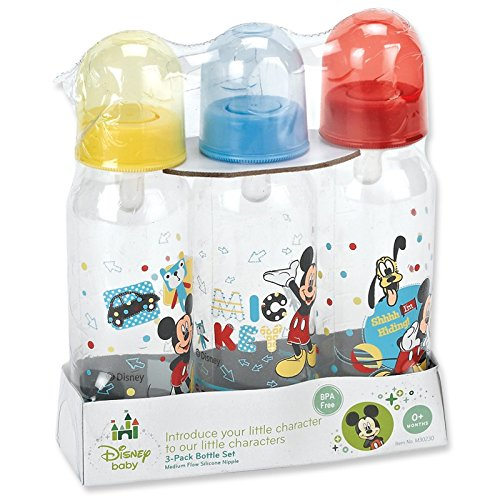 Mickey Mouse Three Pack Deluxe Bottle Set