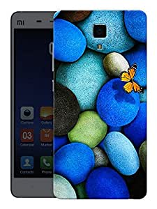 "Humor Gang Butterfly On Rocks Printed Designer Mobile Back Cover For ""Xiaomi Redmi Mi4"" (3D, Matte, Premium Quality Snap On Case)"