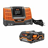 Factory Reconditioned Ridgid ZRR840085 18-Volt Lithium-Ion Battery and ZRR840093 18-Volt Charger