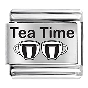 Pugster Tea Time Cups Laser Charm Italian