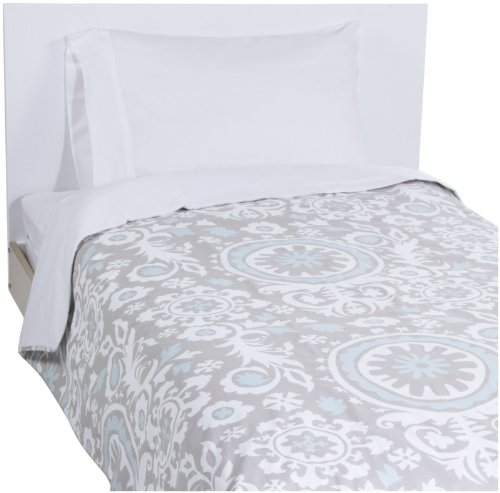 New ArrivalsTwin Picket Fence Coverlet - Khaki/ Aqua