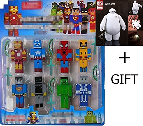 Amazing Toys store 8pcs/lot Building Blocks Toys Assembly Toy Compatible Action Toy Figures for Gift