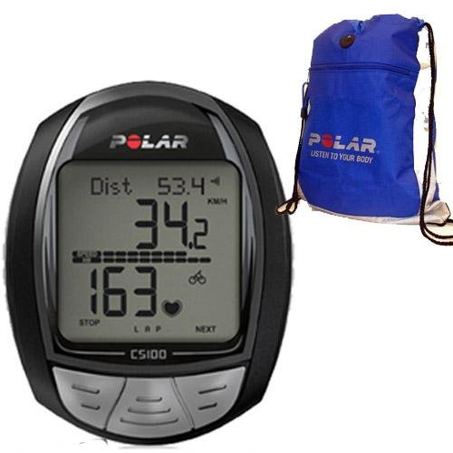 Cheap Polar CS100B Cycling Computer with FREE Polar Cinch Bag (CS-100BKit)