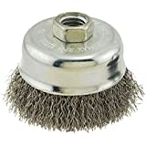 IVY Classic 38910 3-Inch x 5/8-Inch-11 Arbor, Stainless Steel Crimped Wire Cup Brush - 0.012-Inch Coarse, 1/Card