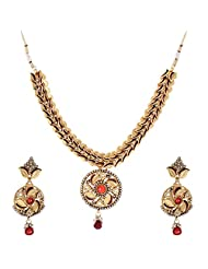 Shahenaz Jewellers 24 Ct Gold Plated Bridal Jewellery Set For Women - B00R2IO7UW