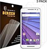 Mr Shield For Motorola Moto G 3rd Generation Premium Clear Screen Protector [3-PACK] with Lifetime Replacement Warranty