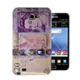 For Samsung Galaxy Note N7000 / I9220 Brand New Union Jack / Sterling Note Design Glossy Hard Shell Mobile Phone Case Cover by eFEEL (£20 pound note Design)