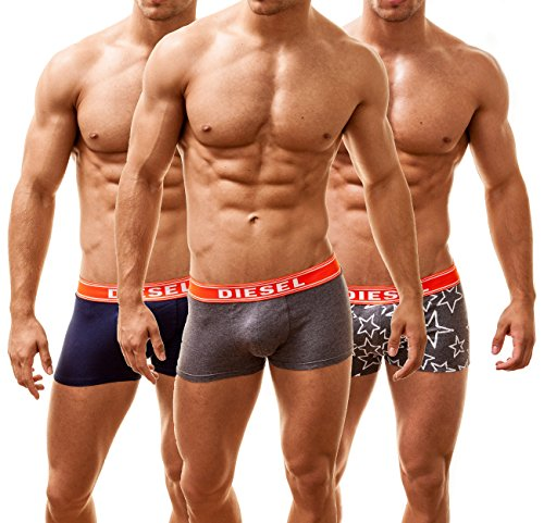 Diesel Boxer Uomo Shawn 3 Pack SUNKIST, policromo, Large