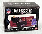 NFL Tennessee Titans Comfy Throw Blanket with Sleeves, Smoke Design
