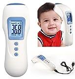 DIKETE® Neueste Premium Infrarot Fieberthermometer Stirnthermometer Tragbare Multifunktion berührungslose Baby