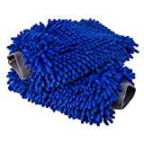 Ultimate Car Wash Mitt - 2 pack Extra Large Size - Premium Chenille Microfiber Wash Mitt - Wash Glove - Lint Free - Scratch Free