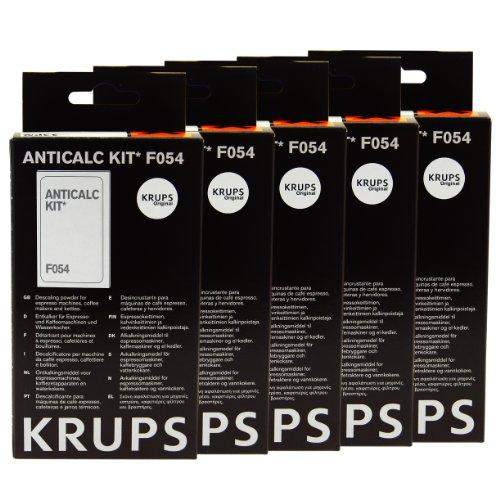 Krups Kit anticalcare* F054 anticalcare, calcare detergente, calce RIMUOVI, 5 Pack
