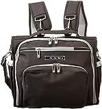 Ju-Ju-Be B.F.F. Convertible Diaper Bag, Black/Silver