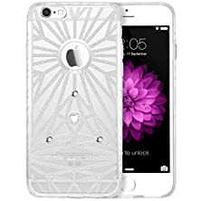 buy Iphone 6S Plus Case, Esr Iphone 6 Plus Case Soft Silicone Clear With Bling Crystal Glitter [Pretty And Sturdy] [Cinderella Series]Protective Cover For Iphone 6 Plus (2014)/Iphone 6S Plus (2015)-White