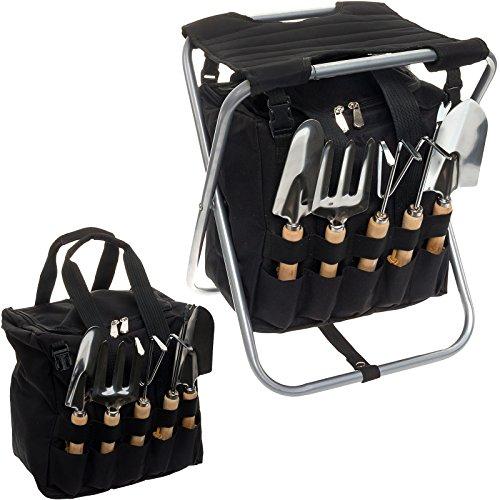picnic-time-5-piece-garden-tool-set-w-removable-tote-folding-seat-black