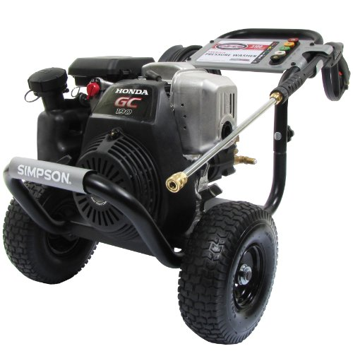 Simpson Megashot MSH3125-S 3,100 PSI Honda Premium Gas Powered Heavy Duty Pressure Washer GC190