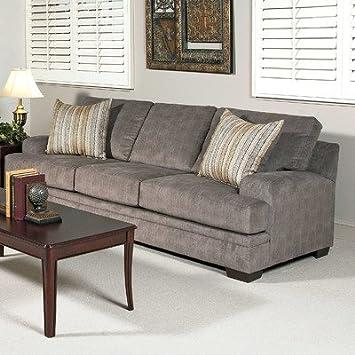 Vermont Sofa Fabric: Smoothie Gray / Wagelength Desert