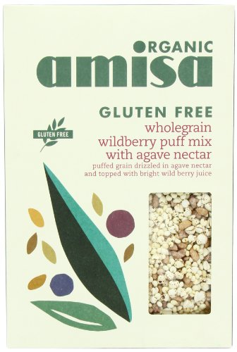Amisa Organic Glutenfree Wholegrain Wildberry Mix Puffs With Agave Nectar 225 g (Pack of 5)